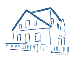 Das Haus mit dem blauen Zaun